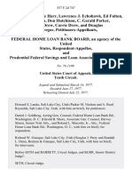 L. J. Harr, Jeanne Harr, Lawrence J. Echohawk, Ed Fulton, Diane Fulton, Don Hutchison, C. Gerald Parker, Donald Drew, Carrie Drew, and Douglas McGregor v. Federal Home Loan Bank Board, an Agency of the United States, and Prudential Federal Savings and Loan Association, Intervenor, 557 F.2d 747, 10th Cir. (1977)