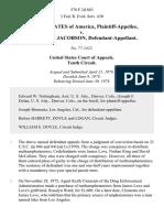 United States v. Robert Scott Jacobson, 578 F.2d 863, 10th Cir. (1978)