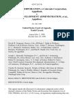Cf&i Steel Corporation, a Colorado Corporation v. Economic Development Administration, 624 F.2d 136, 10th Cir. (1980)