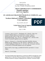 Equal Employment Opportunity Commission, and Cross-Appellee v. St. Louis-San Francisco Railway Company, Now Burlington Northern Railroad Company, and Cross-Appellant, 743 F.2d 739, 10th Cir. (1984)