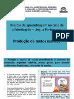 Direitos de Aprendizagem - Produção de Textos