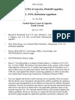 United States v. Bruce C. Fox, 930 F.2d 820, 10th Cir. (1991)