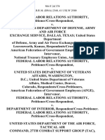 Federal Labor Relations Authority, Petitioner/cross-Respondent v. United States Department of Defense, Army and Air Force Exchange Service, Dallas, Texas United States Department of Defense, Army and Air Force Exchange Service, Fort Leavenworth, Kansas, Respondents/cross-Petitioners, American Federation of Government Employees (Afge), Intervenor, National Treasury Employees Union, Amicus Curiae. Federal Labor Relations Authority, Petitioner/cross-Respondent v. United States Department of Veterans Affairs, Washington, D.C. United States Department of Veterans Affairs, Medical Center, Denver, Colorado, Respondents/cross-Petitioners, American Federation of Government Employees (Afge), Intervenor. Federal Labor Relations Authority, Petitioner/cross-Respondent v. Department of Interior, Respondent/cross-Petitioner. Federal Labor Relations Authority, Petitioner/cross-Respondent v. United States Department of the Air Force, Tactical Air Command, 27th Combat Support Group (Tac), Cannon Air For