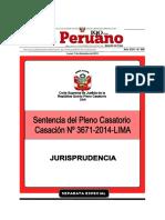 7 - SEPTIMO PLENO CASATORIO CIVIL  - Terceria de propiedad - CAS. 3671-2014 LIMA.pdf