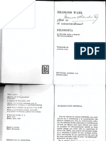 Wahl, Francois-Qué Es El Estructuralismo-Ed. Losada