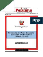 6 - Sexto Pleno Casatorio - CAS. 2942-2012 LAMBAYEQUE - Ejecucion de garantias - con marcadores y vinculos.pdf