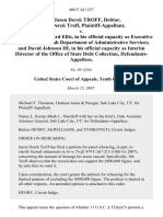 In Re Jason Derek Troff, Debtor, Jason Derek Troff v. State of Utah, Richard Ellis, in His Official Capacity as Executive Director of the Utah Department of Administrative Services and David Johnson Iii, in His Official Capacity as Interim Director of the Office of State Debt Collection, 488 F.3d 1237, 10th Cir. (2007)