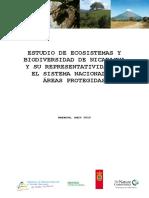 Estudio de Ecosistemas y Biodiversidad de Nicaragua y Su Representatividad en El Sistema Nacional de Areas Protegidas