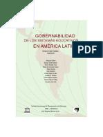 GOBERNABILIDAD  DE LOS SISTEMAS EDUCATIVOS  EN AMÉRICA LATINA Francois Dubet