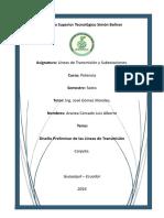 Carpeta - Diseño Preliminar de Las Líneas de Transmisión