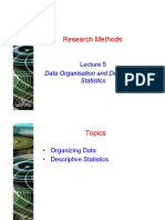 Lecture 5 - Descriptive Statistics