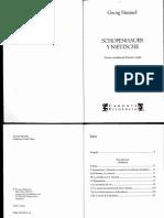 Simmel, George-Schopenhauer y Nietzsche-Ediciones Terramar.