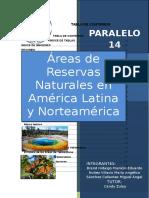 Áreas de Reservas Naturales en América Latina y Norteamérica