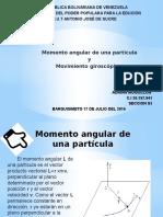 Momento angular y Movimiento giroscópico