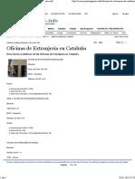 Oficinas de Extranjería en Cataluña - Parainmigrantes