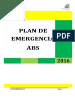 Plan de Emergencias 2016 - Colegio Andino Bilingüe