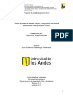 Diseño de Redes de Drenaje Urbano Comparación de Diseños Tradicionales Versus Diseños Futuros