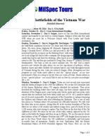 Epic Vietnam Battlefields Detailed Itinerary