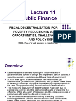 Lecture - Fiscal Decentralization