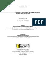 Metodología Para La Optimización Del Diseño de Tuberías en Serie en Sistemas de Alcantarillado