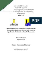 Modelación Física Del Transiente de Presión Generado Por Cambios Operativos en RDAP