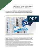 La Justicia Ordenó a YPF Hacer Públicas en 5 Días Cláusulas Secretas Del Acuerdo Con Chevron