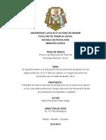 Tesis Reguetón Urbano y Concepciones de Las Relaciones de Género - David Prado 2014