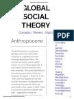 Anthropocene e Pós-colonialismo – GLOBAL SOCIAL THEORY
