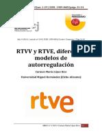 RTVV y RTVE, diferentes modelos de autorregulación