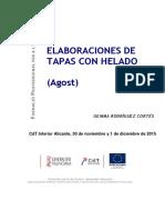 214 Elaboraciones de Tapas Con Helado Agost 2015