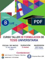 Brochure de Curso Taller de Tesis Universitaria