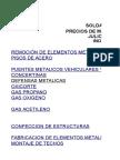 Precios de Mano de obra Soldadura Herrería y Montaje May Sep 2016
