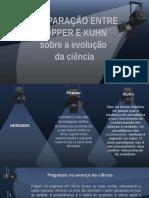 Comparação Entre Popper e Kuhn Sobre a Evolução Da Ciência
