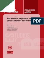CEPAL Tres Avenidas de Políticas Sociales Para Las Capitales de Colombia