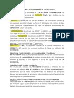 Modelo Contrato Transferencia Acciones