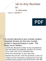 Decimal to Any Number System