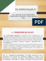 3. Leyes Especiales. II. l.o d. t.t.t.s.V.