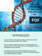 A importância da biologia molecular na genética forense
