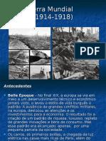 Aula Historia Geral Primeira Guerra Mundial Pronta Aula Extra