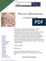 Practical Bookbinding - By Morris Lee King