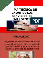 Norma Tecnica de Emergencia