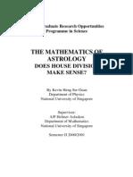 Mathematics of astrology