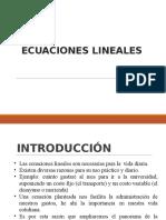 Clase Demo - ECUACIONES LINEALES