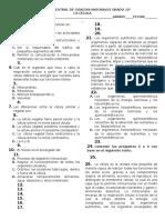 Examen Bimestral La Célula