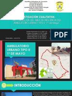 Investigación Cualitativa Sectorización Del Área de Influencia Del Ambulatorio Urbano Tipo II 1º de Mayo