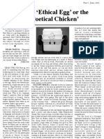 The 'Ethical Egg' or the 'Poetical Chicken' Dear Nadia Part 1