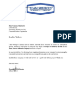 Sample Accepttance Letter From University of Caloocan City