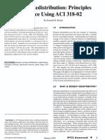 Moment Redistribution - Principles and Practice Using Aci 318-02