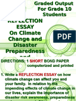 reflective essay - climate of change