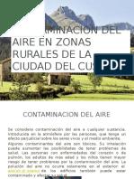 Contaminacion Del Aire en Zonas Rurales de La